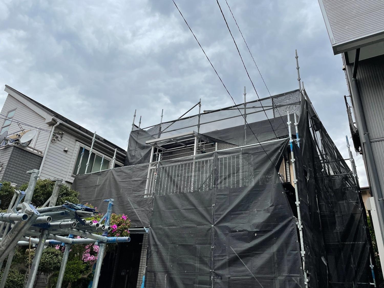 座間市相武台にて仮設工事