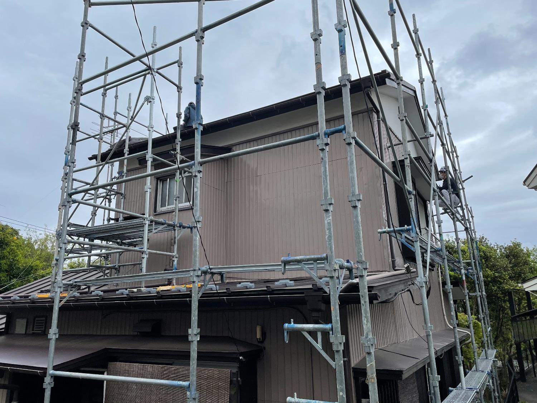 横浜市緑区三保町にて仮設工事
