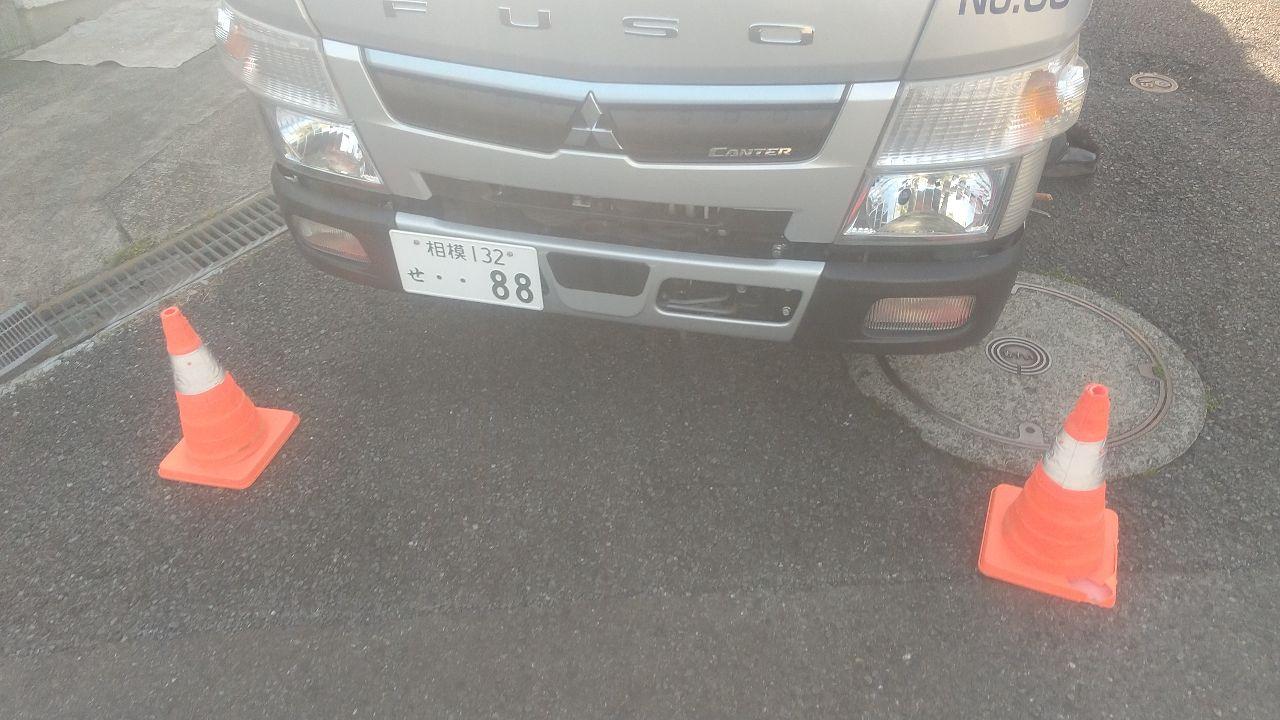 川崎市宮前区菅生ケ丘にて仮設工事