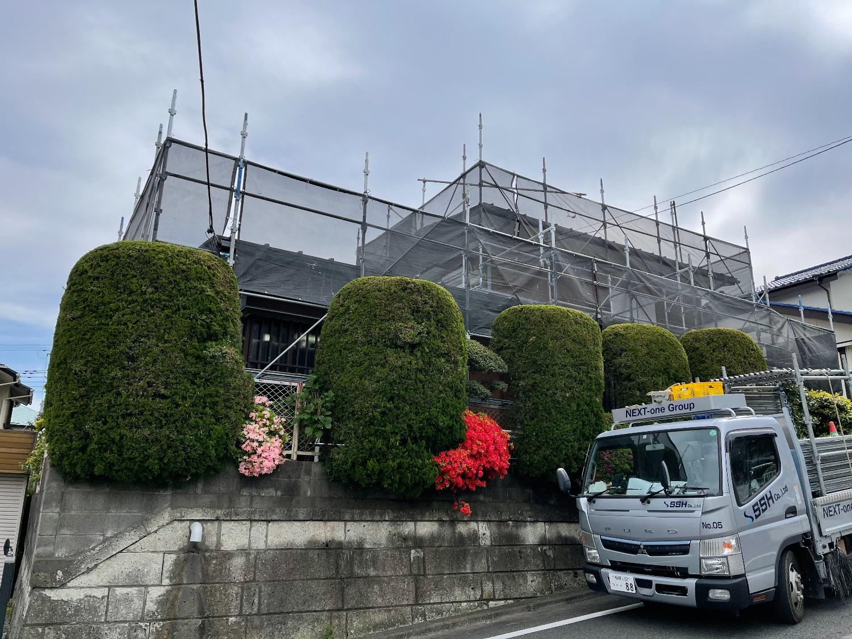 多摩市桜ヶ丘にて仮設工事