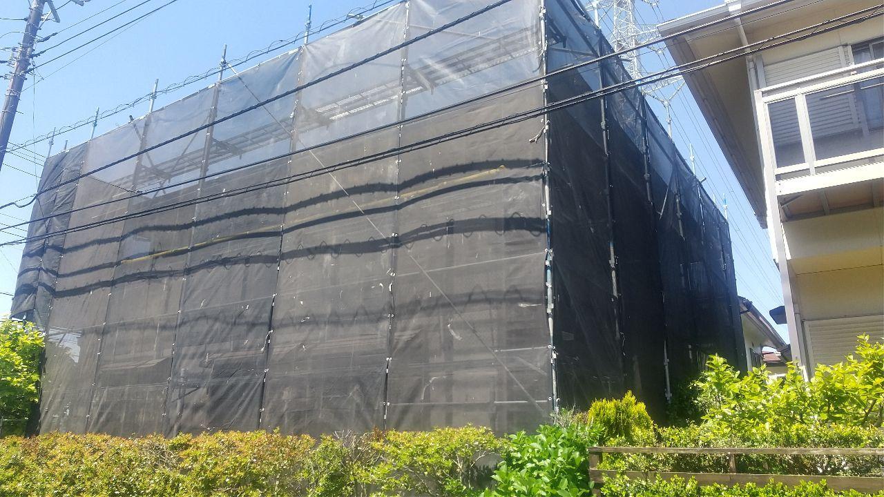 千葉市おゆみ野中央にて仮設工事