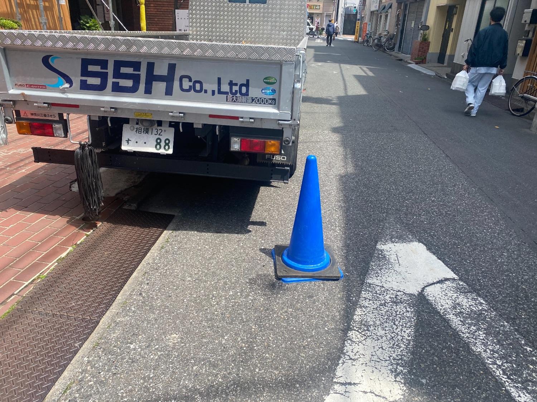 江戸川区平井にて仮設工事