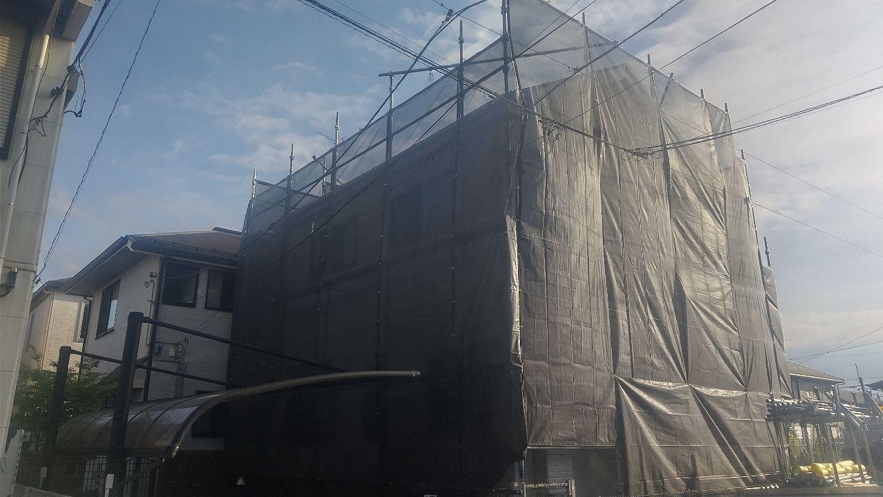 相模原市緑区二本松にて仮設工事