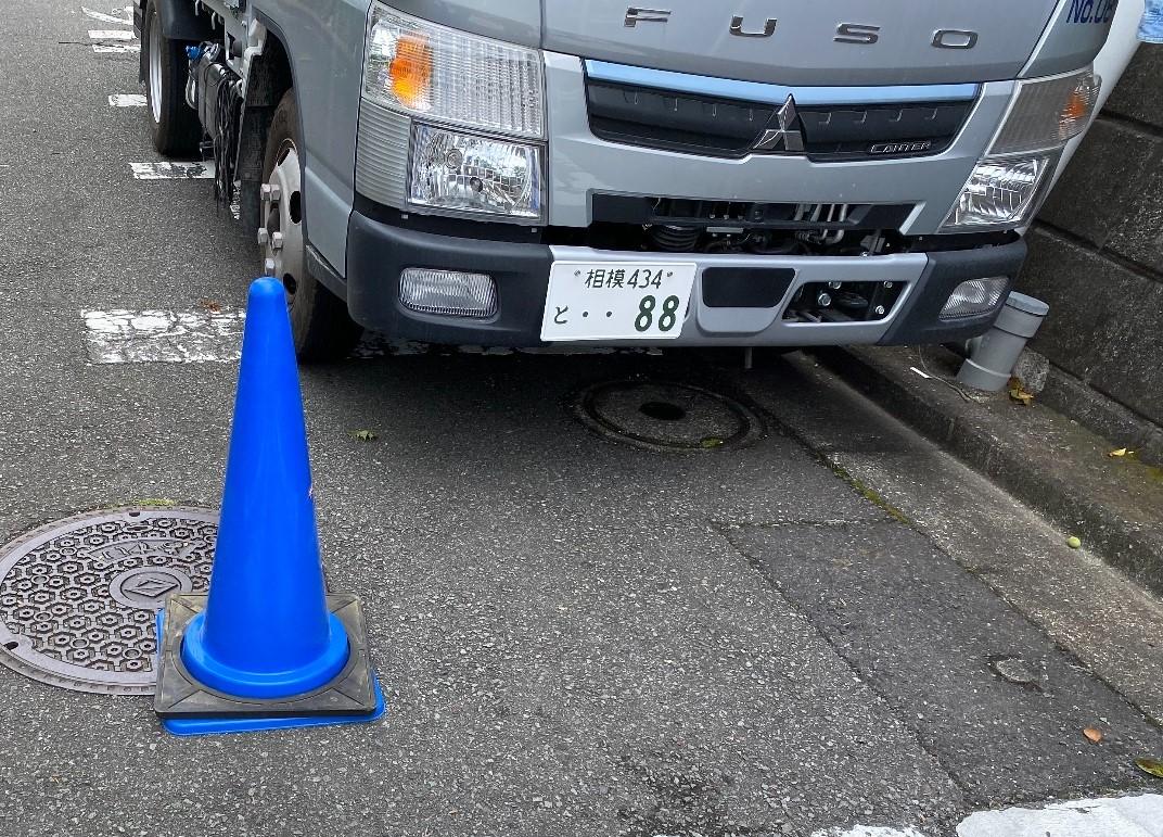 千葉市若葉区西都賀にて仮設工事