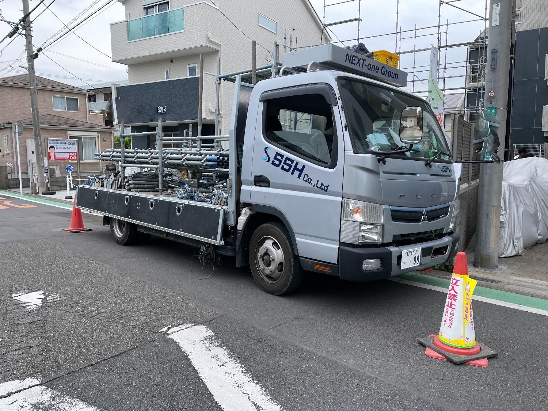 【足場】相模原市南区上鶴間本町にて仮設工事