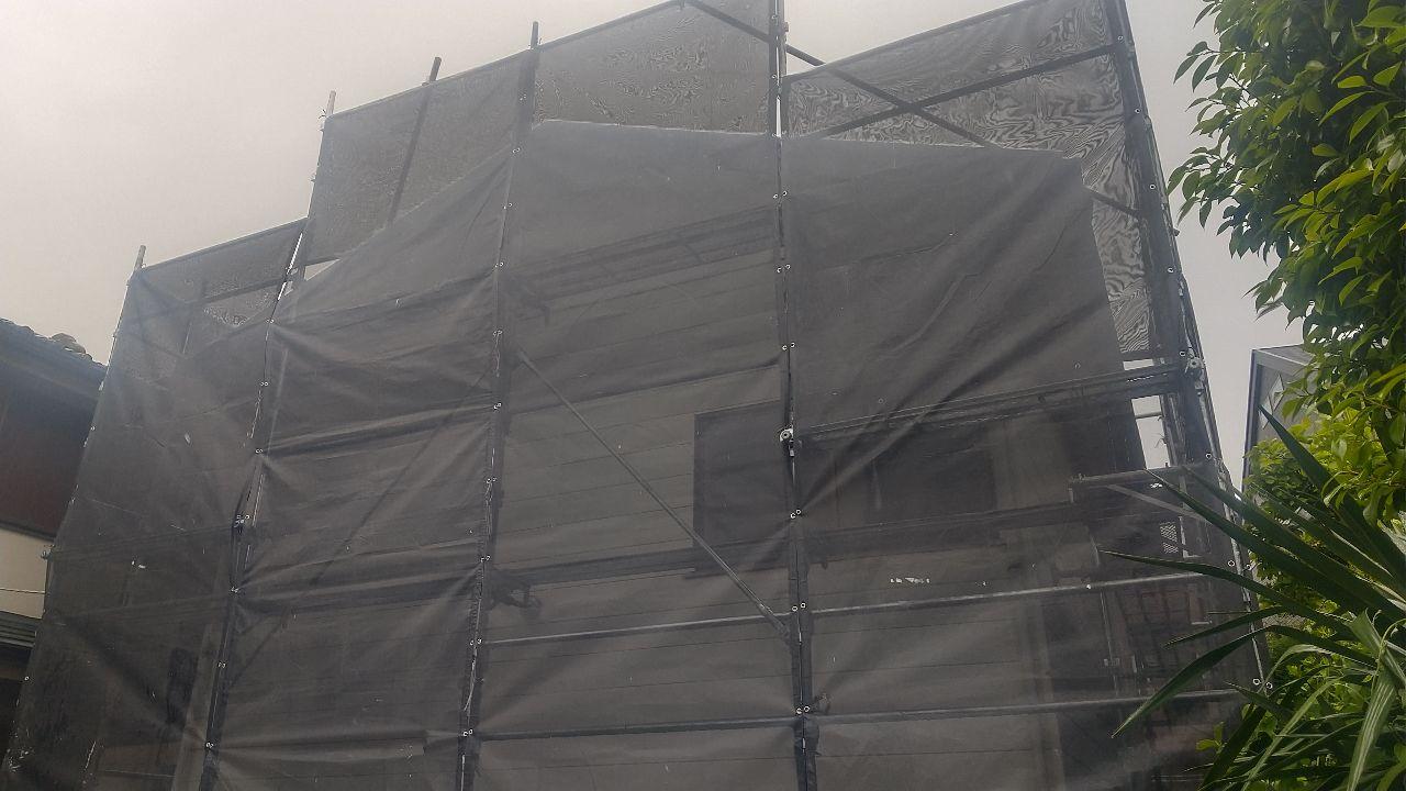 【足場】旭区東希望が丘にて仮設工事