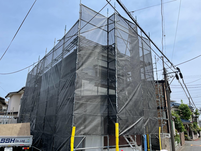 【足場】相模原市緑区二本松にて仮設工事