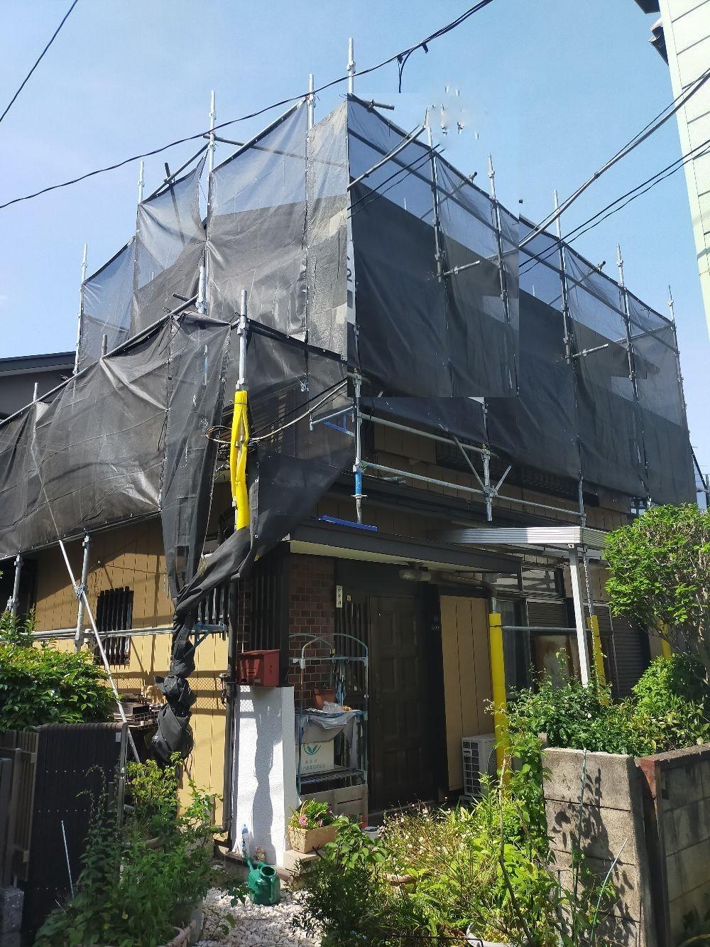 【足場】相模原市南区南台にて仮設工事