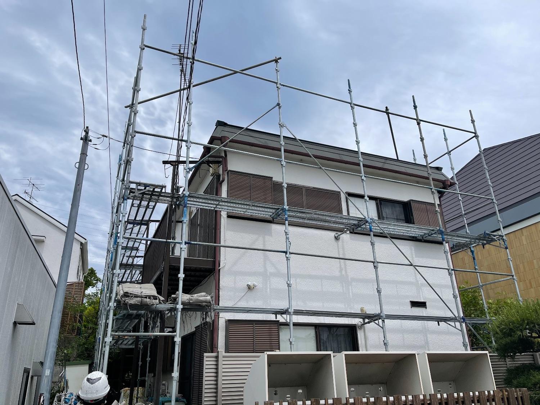 【足場】町田市森野にて仮設工事