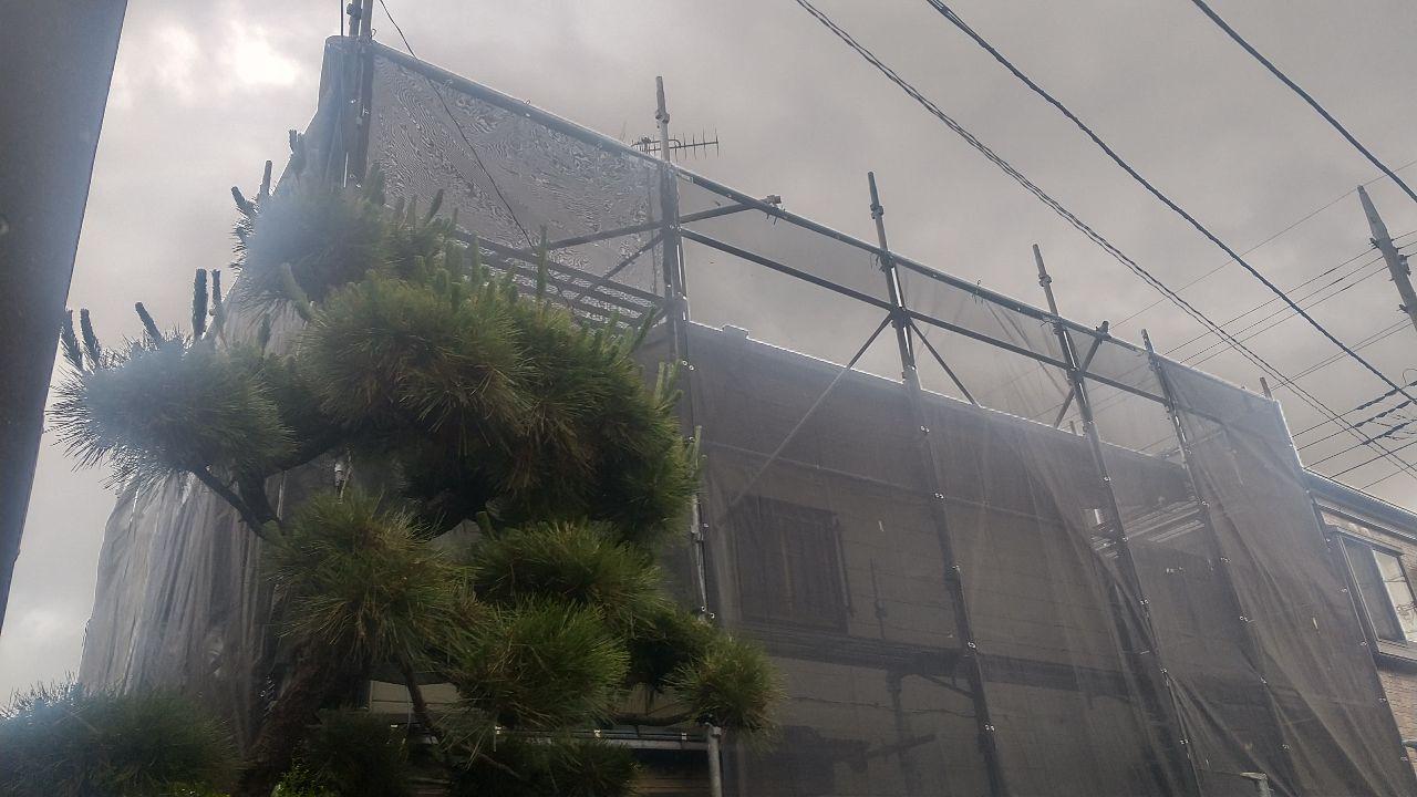 【足場】大和市西鶴間にて仮設工事
