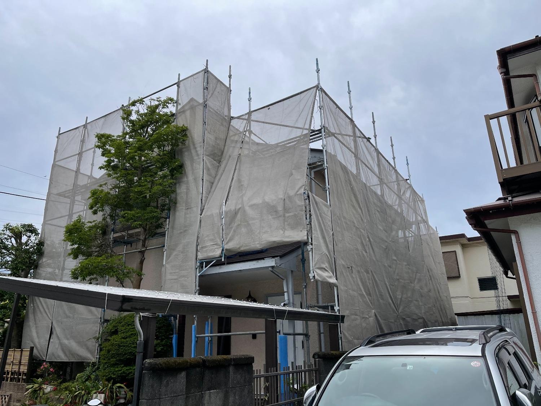 【足場】横須賀市ハイランドにて仮設工事