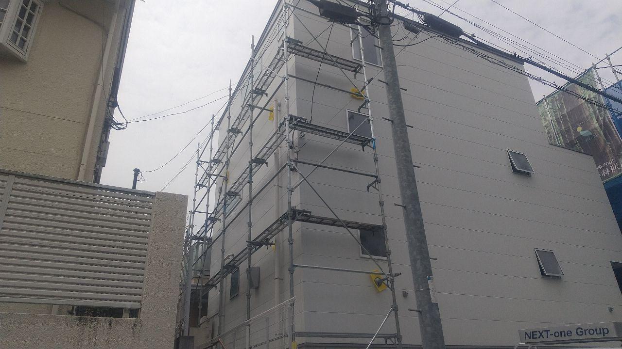 【足場】大田区山王にて仮設工事