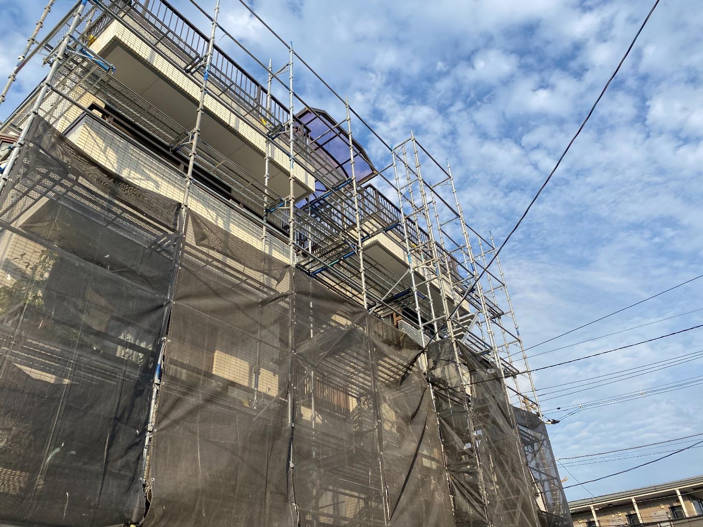 【足場】千葉県千葉市花見川区幕張本郷にて仮設工事