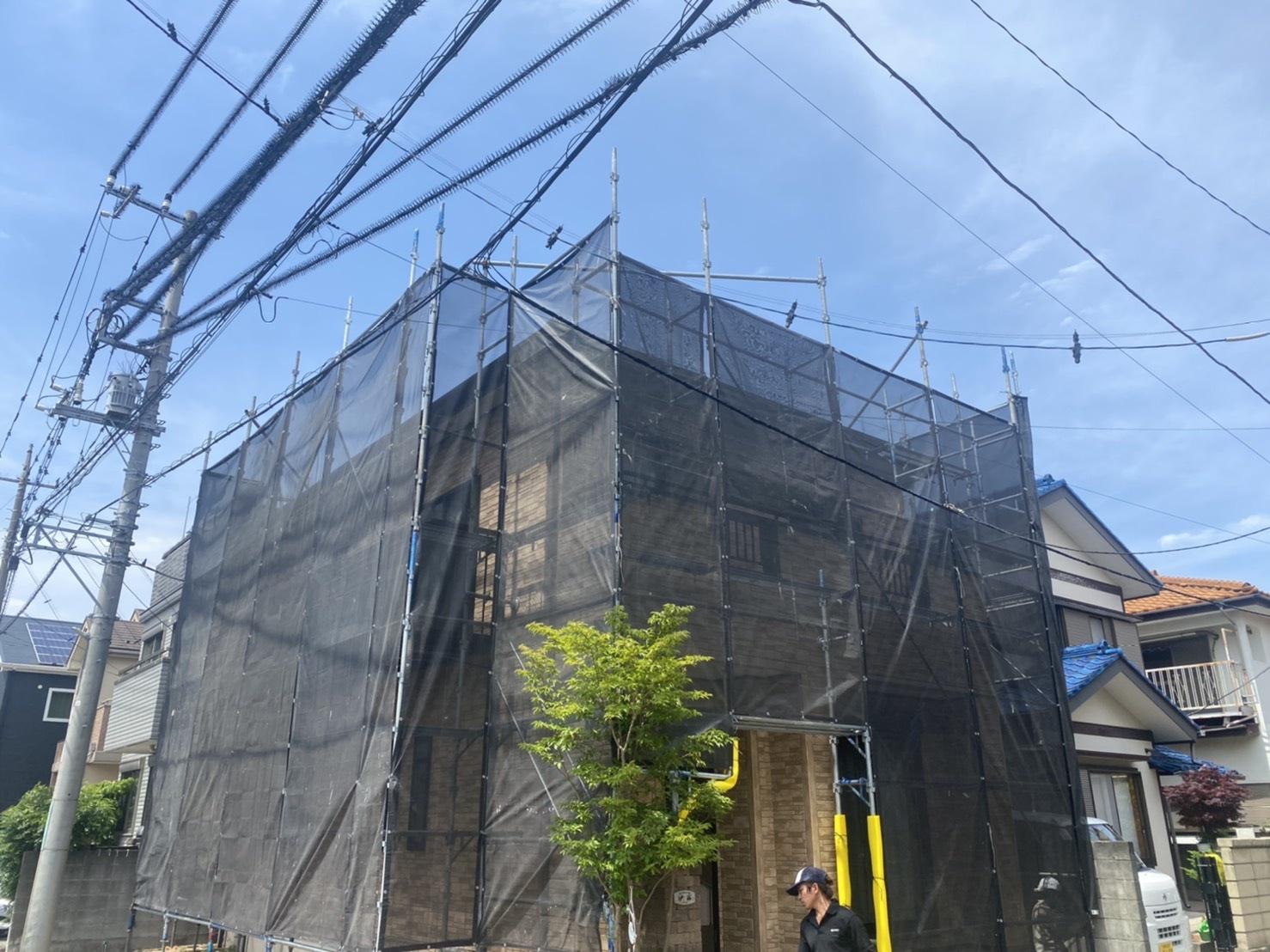 【足場】大和市代官にて仮設工事