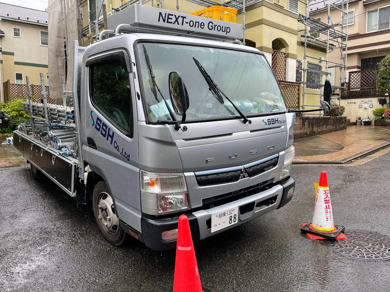 【足場】横浜市青葉区梅ヶ丘にて仮設工事