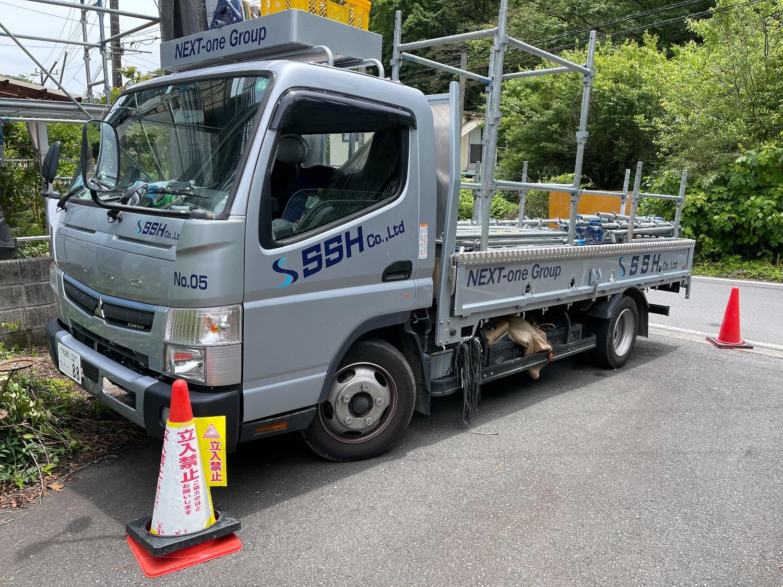 【足場】八王子市裏高尾町にて仮設工事