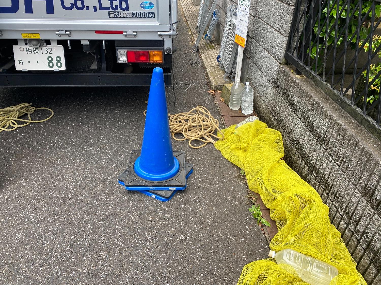【足場】八千代市八千代台南にて仮設工事