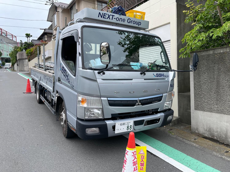 【足場】青葉区荏田北にて仮設工事