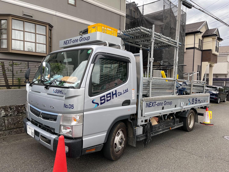 【足場】横浜市旭区二俣川にて仮設工事
