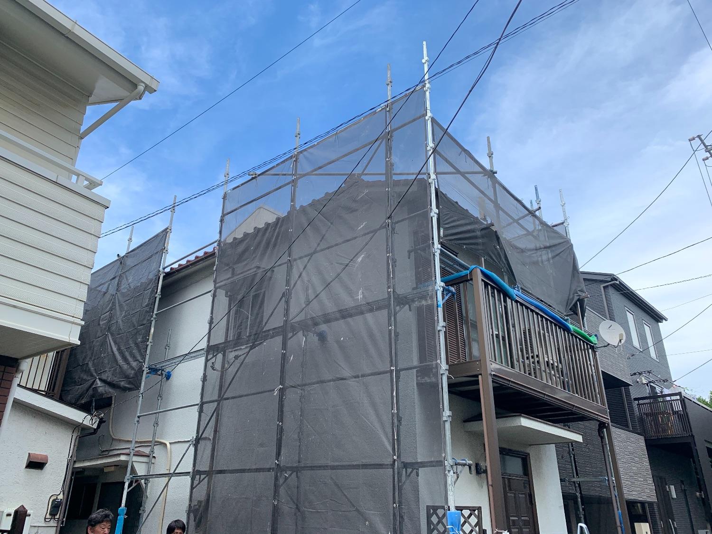 【足場】品川区西大井にて仮設工事