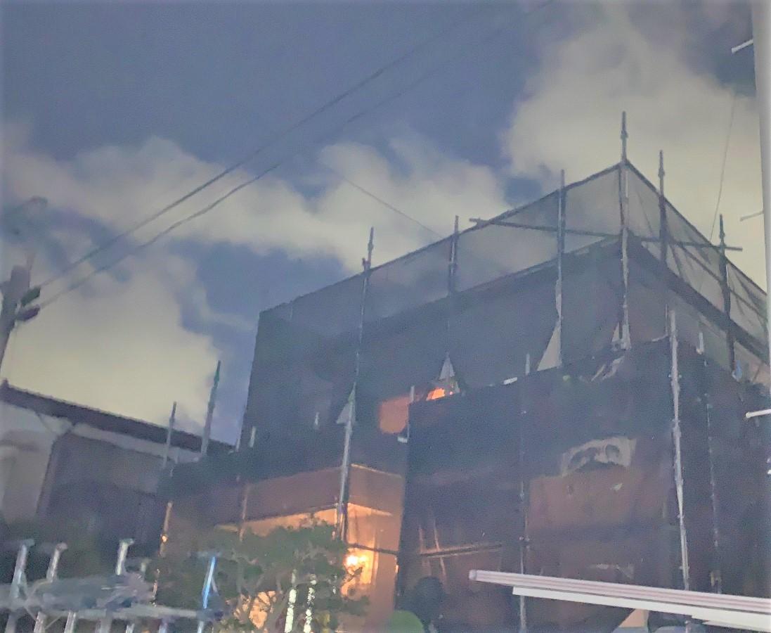 【足場】横浜市鶴見区馬場にて仮設工事