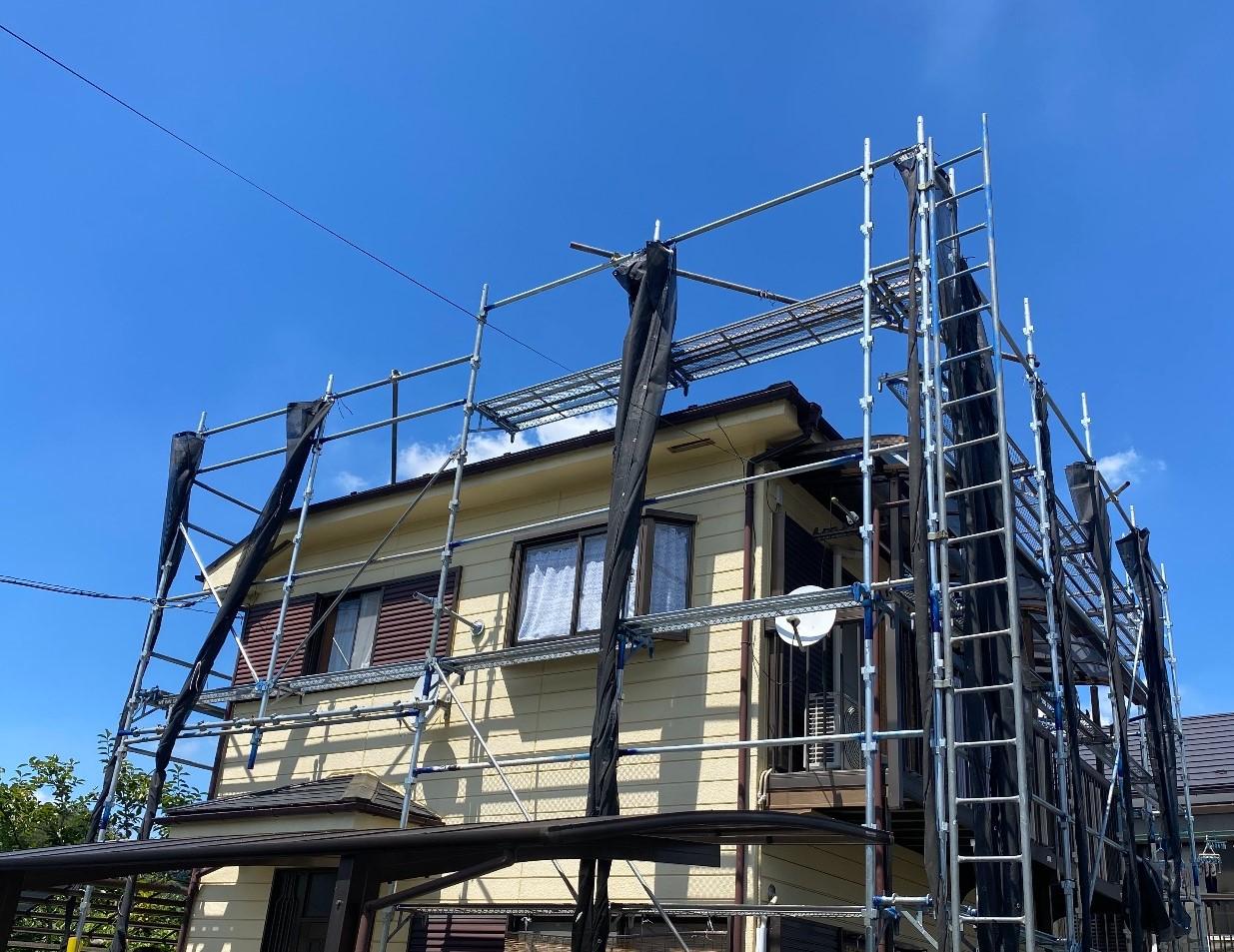 【足場】八王子市下恩方町にて仮設工事