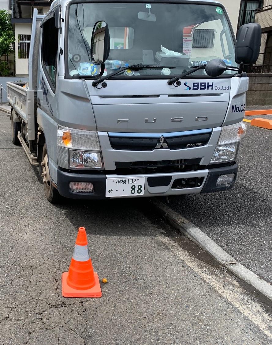 【足場】保土ヶ谷区和田にて仮設工事