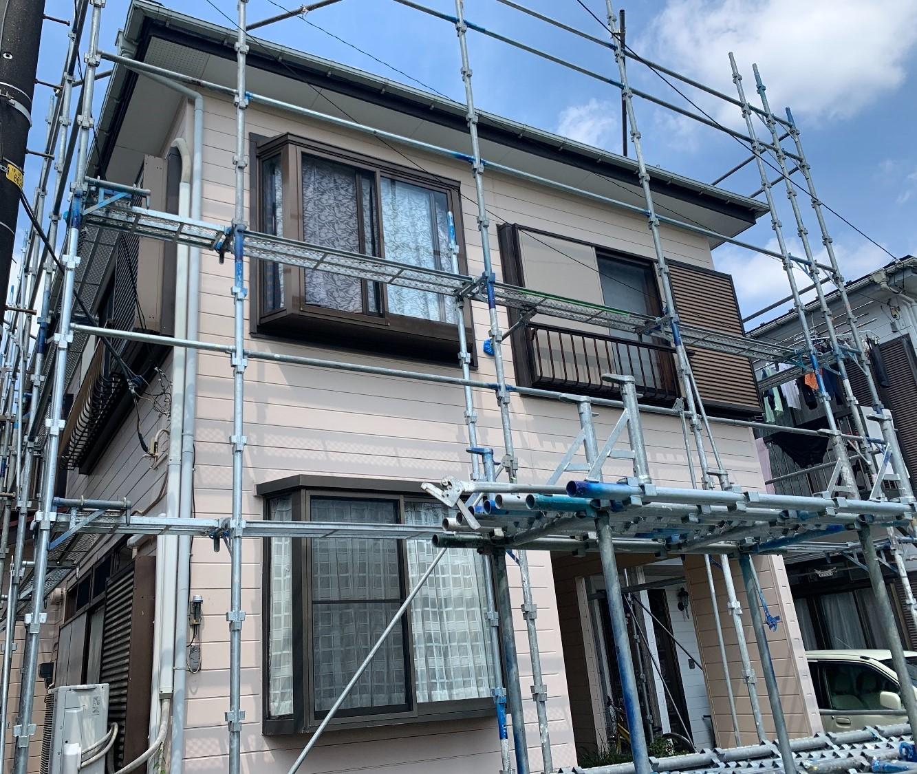 【足場】綾瀬市上土棚中にて仮設工事
