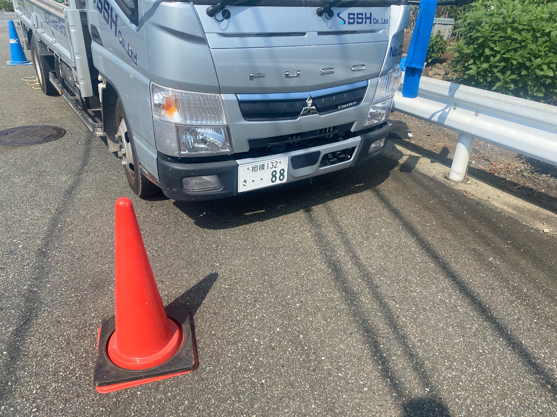 【足場】厚木市棚沢にて仮設工事