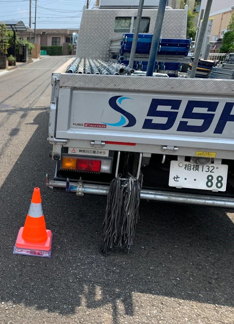 【足場】横浜市都筑区東山田にて仮設工事