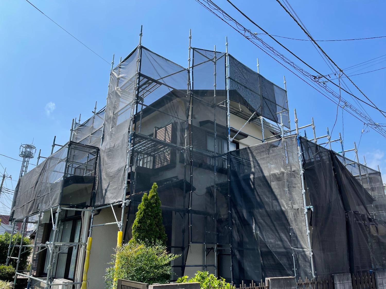 【足場】大和市下鶴間にて仮設工事
