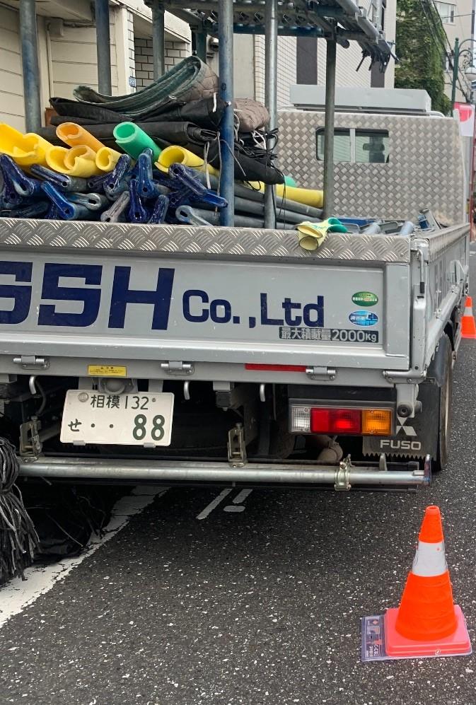 【足場】八王子市子安町にて仮設工事