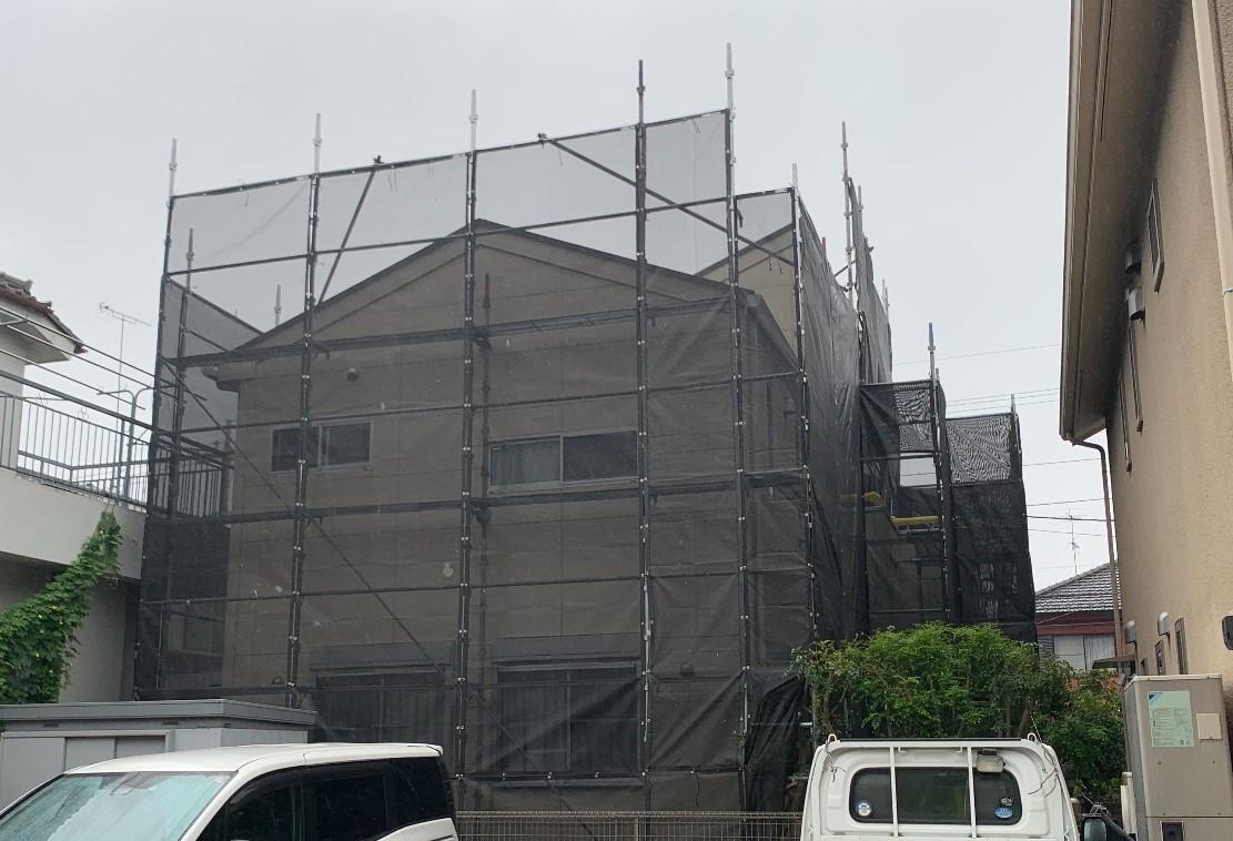 【足場】相模原市中央区相生にて仮設工事