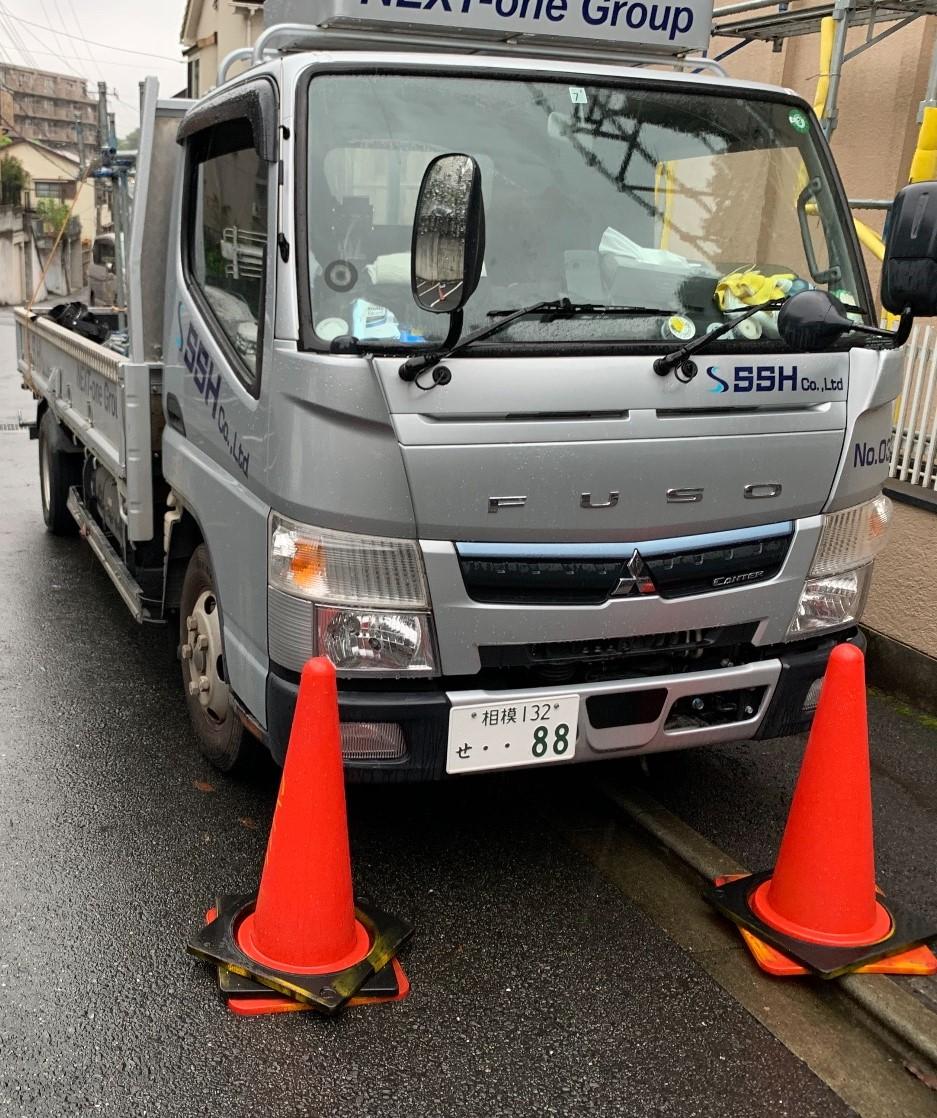 【足場】川崎市麻生区片平にて仮設工事