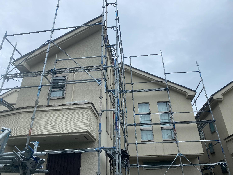 【足場】八王子市北野町にて仮設工事