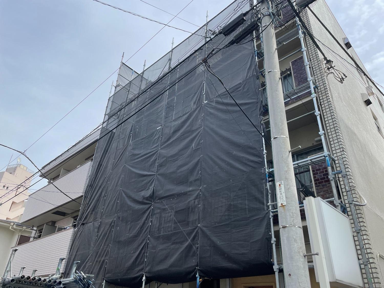【足場】横浜市西区岡野町にて仮設工事