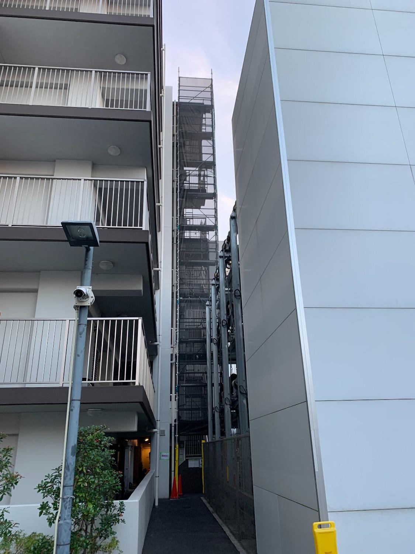 【足場】横浜市港北区新吉田東にて仮設工事