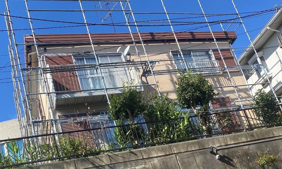【足場】青葉区しらとり台にて仮設工事