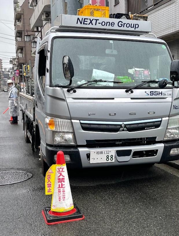 【足場】府中市八幡町にて仮設工事