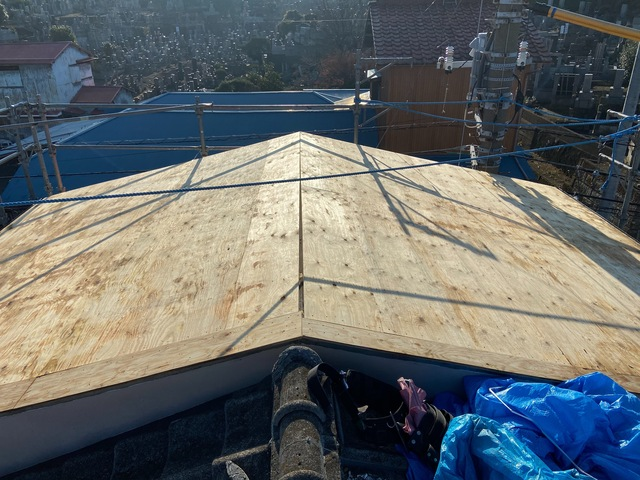 町田市にて屋根葺き替