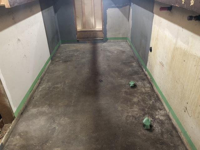 座間市にて床防水工事