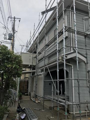 町田にて塗装架設工事完了