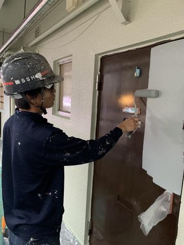 港北アパート塗装工事④
