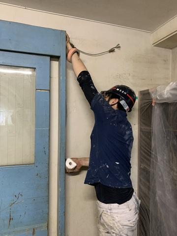 高等学校塗装工事