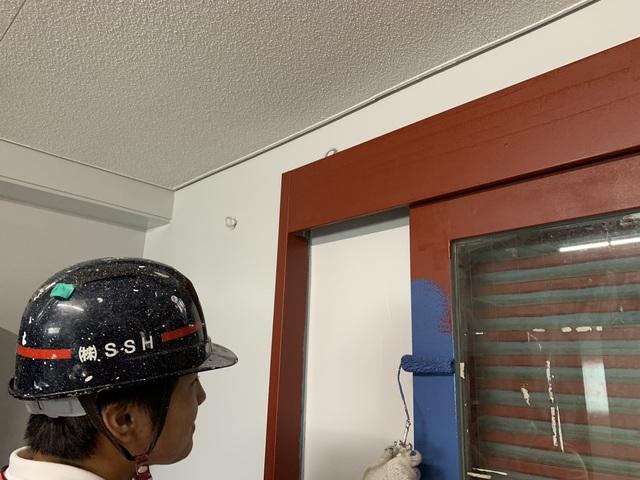 高等学校塗装工事④