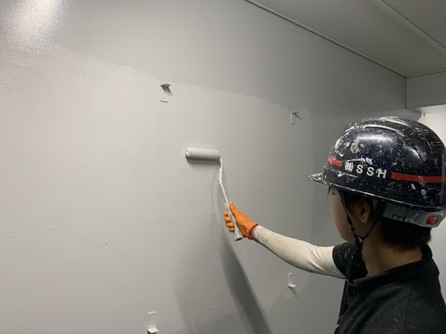 高等学校塗装工事⑨