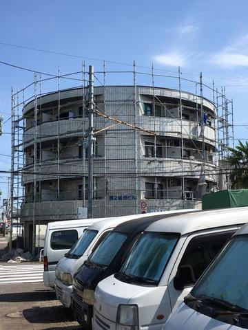 福生市にて塗装仮設工事