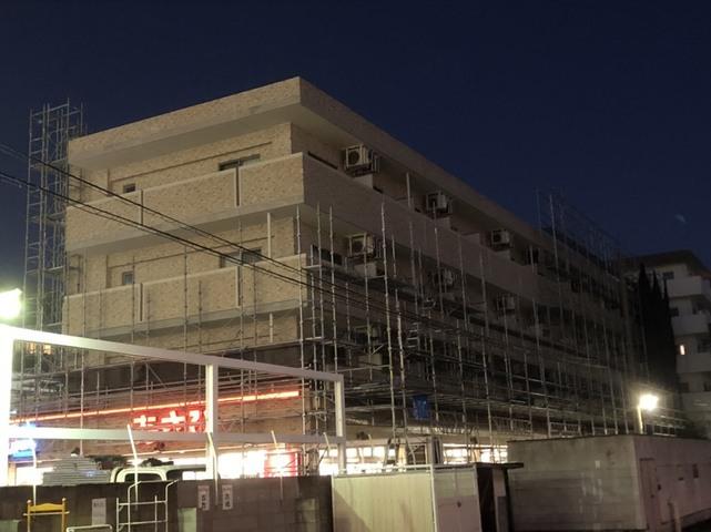 日吉にて大規模仮設工事
