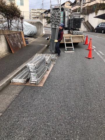 町田市にて仮設工事