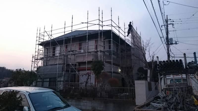 綾瀬市にて足場工事